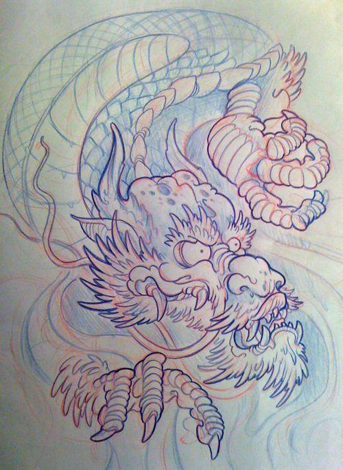 72 best traditional japanese flash images on pinterest for Japanese koi dragon