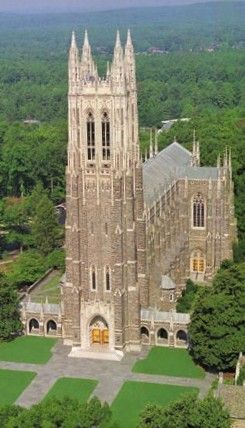 Duke Chapel at Duke University, North Carolina.