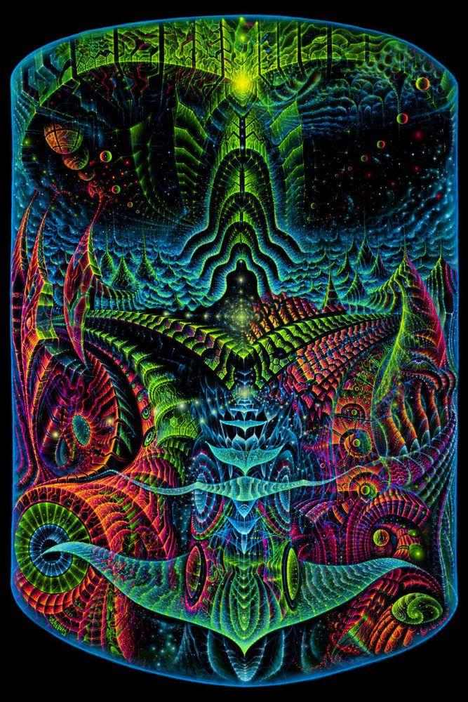 Backdrop Origin Psychedelic Deco Wandbehang 1m x 1,5m Hippie Goa Design UV Kunst