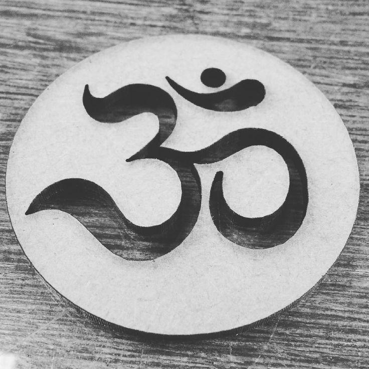 aum mantra tradição indiana Hinduísmo oração símbolos simbolo, recorte a laser, Figueira Laser