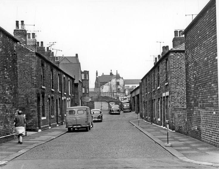 Maltby Street, Attercliffe taken from Clay Street looking towards Maltby Street County School