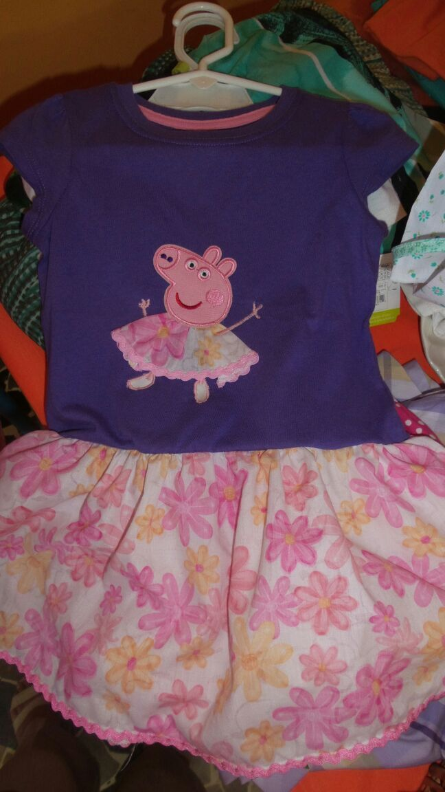 cotton dress peppa pig