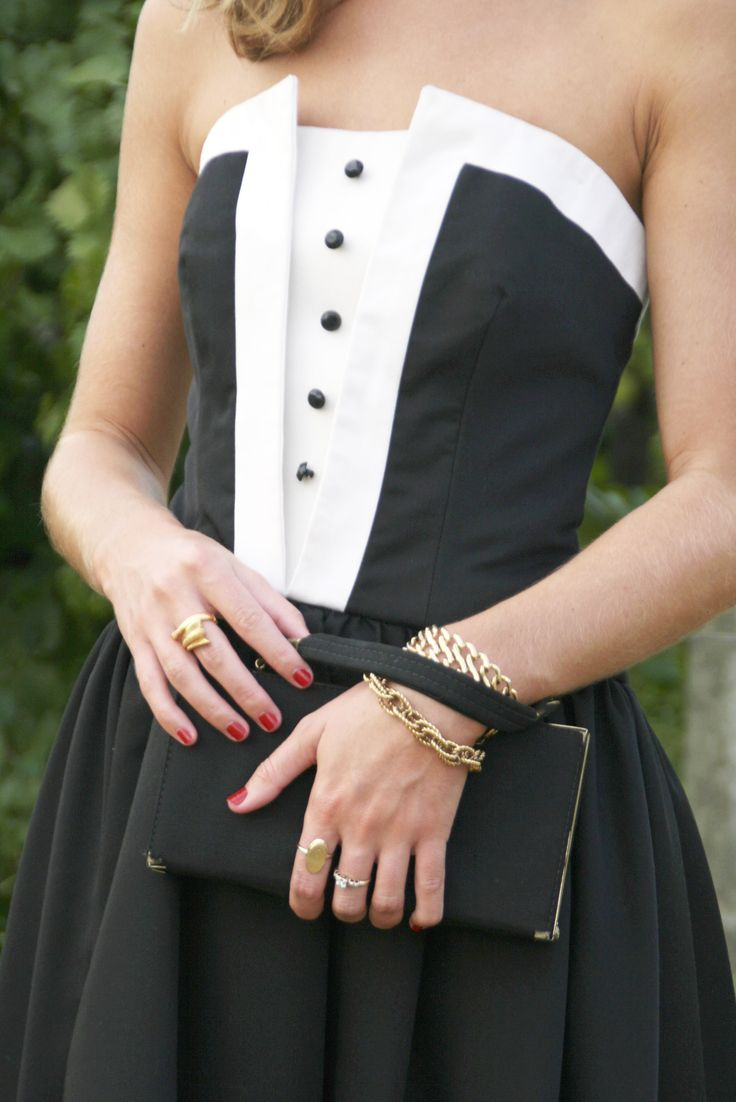 The girly tuxedo!  Cute, formal, fun :)