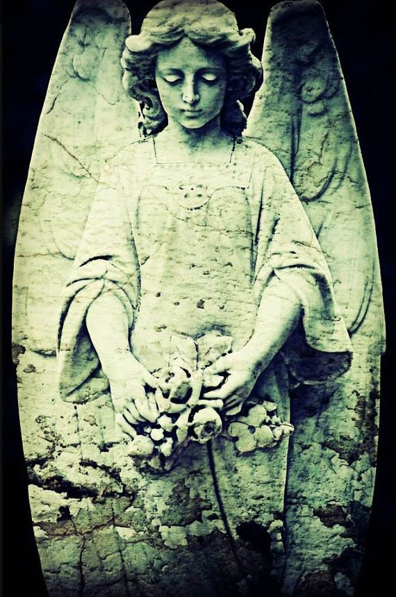 8x12 Green Angel, Veilwalker of Thousand Steps, Gothic Photography, Halloween Photography, Fine Art Photography