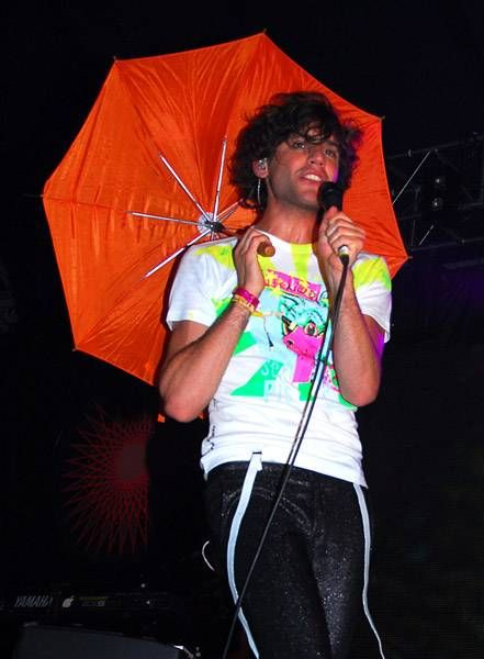 Mika at Glastonbury Festival in the East Dance tent, June 23 2007