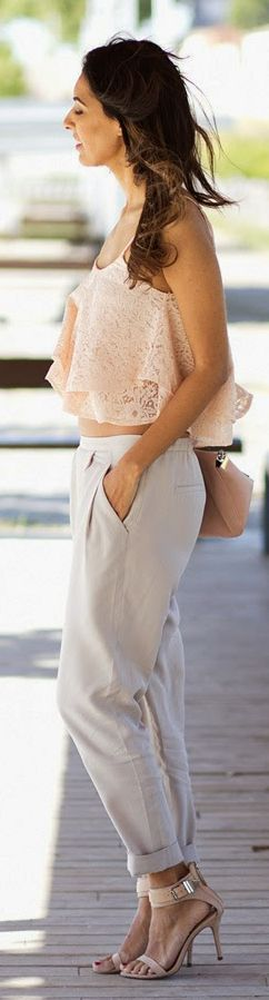 Zara Grey Rolled Cuff Loose Trousers by Sissy à La Mode