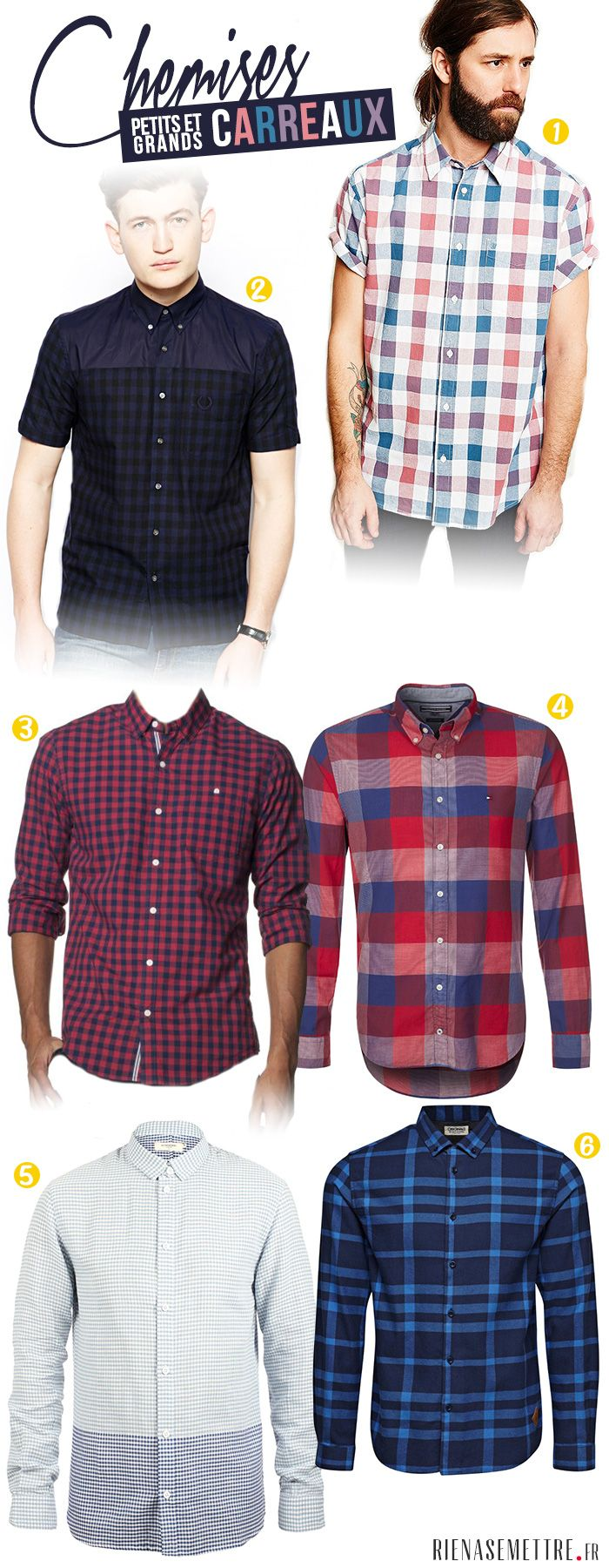 La sélection des chemises Homme à carreaux - Printemps 2014
