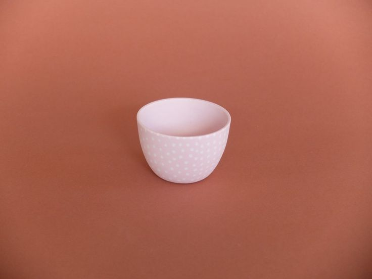 Cast Ceramics Macy bowl Handmade porcelain small pink pot