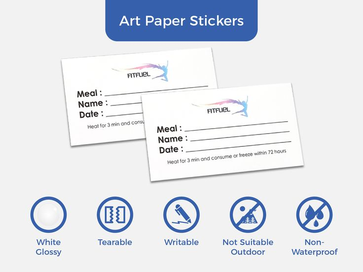 Infographic: Art Paper Stickers (Glossy) have a very wide range of applications such as shops and company logo/display stickers or product labels.