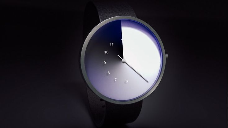 jiwoong jung's watch concept swaps the hour hand for a gradient