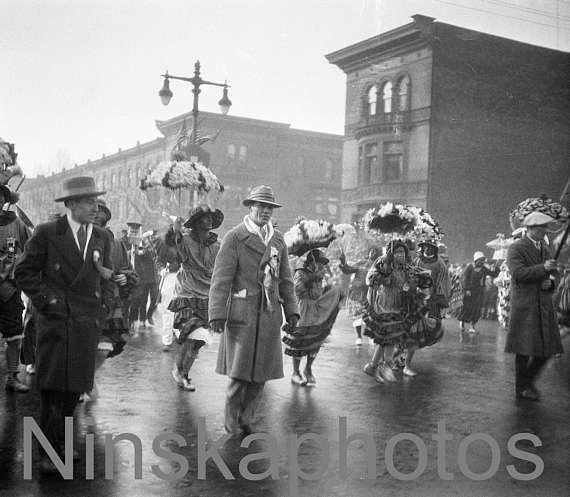 Philadelphia 1927 Mummer's Parade, Pennsylvania, United States, 1920s antique photo reprint, vintage photography, folk festival