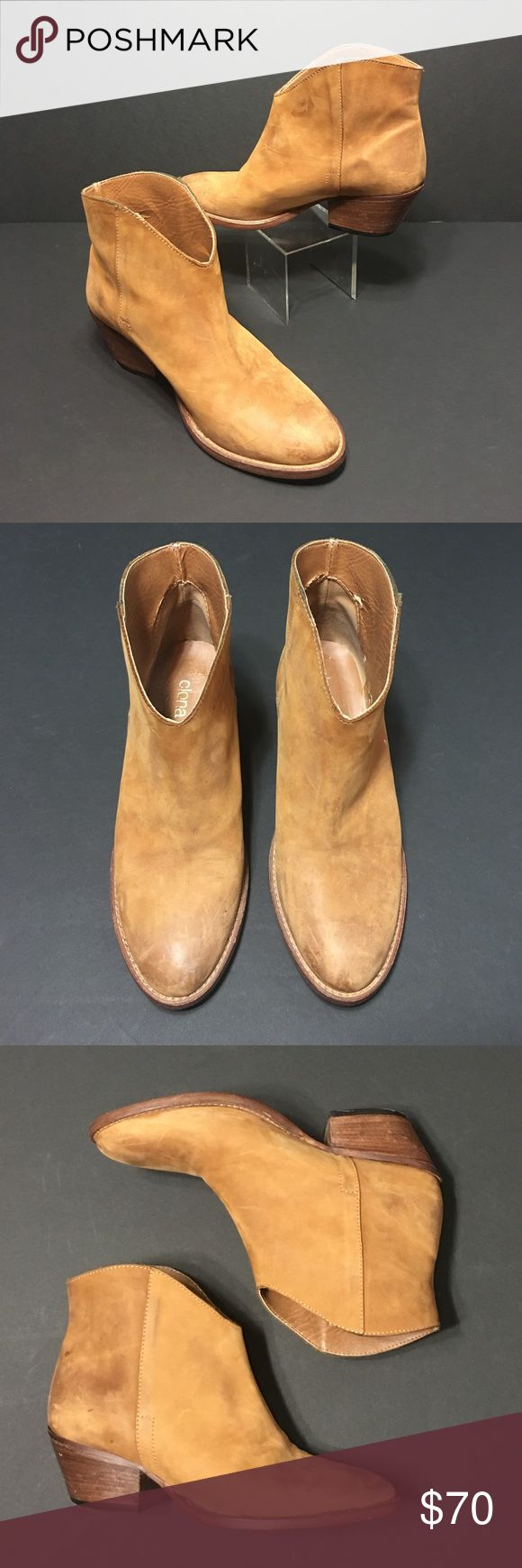 Clona Camel Color Nubuck Booties • Sz 8 Great colored booties to go with your skinny jeans, leggings or whatever outfit you want to pair them with • These are a nubuck suede • Have that worn in look and super comfortable to wear Clona Shoes Ankle Boots & Booties