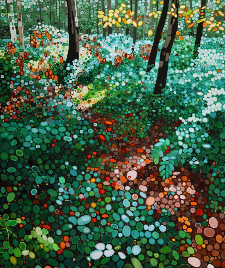 Ewa Adams After the Rain Acrylic on Canvas 60 x 50 cm £ 1,950  #Art #Paintings #Exhibitions #Surrey