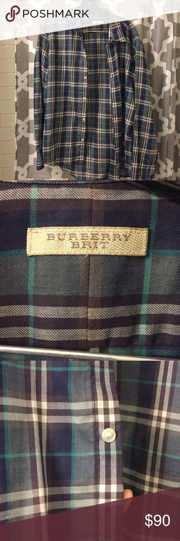 Burberry Brit men's size large button down Burberry Brit men's size large button down, excellent condition, too small on my bf Burberry Shirts Dress Shirts