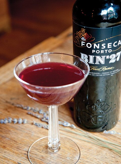 saint valentine port cocktail w/ white rum, ruby port, cointreau & lime (try w/ spiced rum & tawny port)