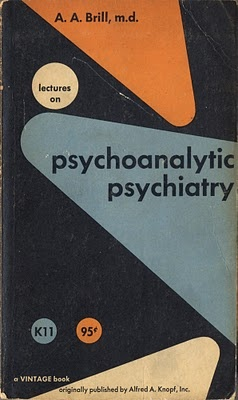 "Herbert Bayer's gorgeously coloured and realized cover for A. A. Brill's ""Lectures on Psychoanalytic Psychiatry."" Is there any other kind? Love the pinball geometry."