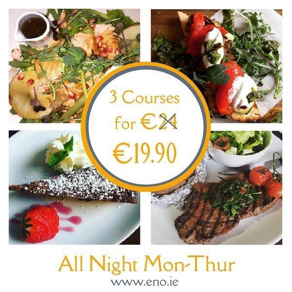 \\\ SPECIAL OFFER - 3 COURSES FOR €19.90 /// We have an exciting new special offer on our Early Bird Menu! Enjoy 3 COURSES FOR THE PRICE OF 2 - €19.90 This offer is available all night Monday through to Thursday! No excuse now not to catch up with friends and family for mid-week dinner and drinks! Enjoy! ‪#‎eatateno‬ ‪#‎specialoffer‬ ‪#‎earlybird‬ ‪#‎3for2‬ #eatateno #dundalk @dundalk_tourist_office_ireland #specialoffer #louthchat #earlybird #healthychoices #vegan #paleo #eatgreen…