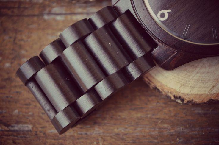 Wooden watch strap