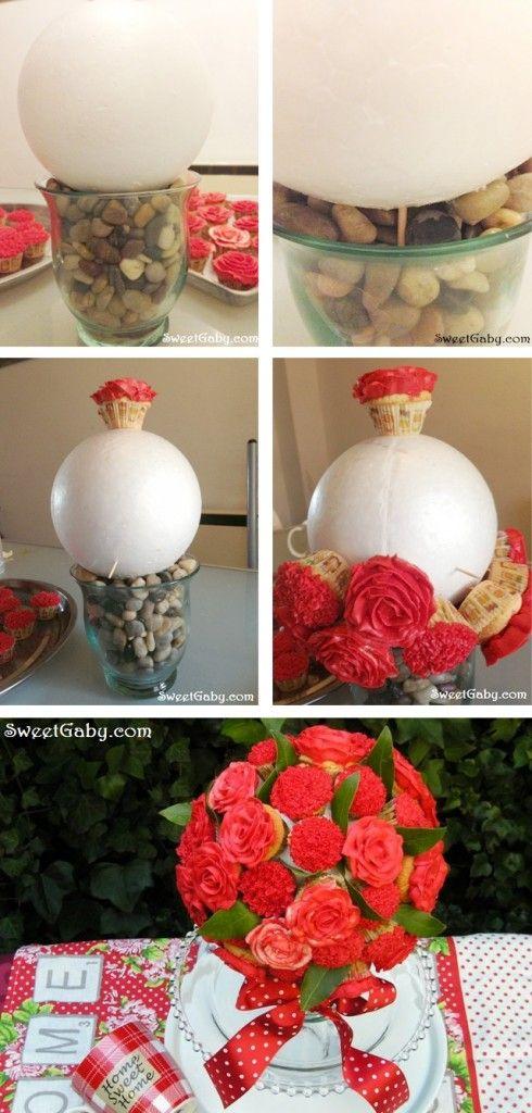 Paso a paso bouquet de cupcakes