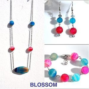 Necklace bracelet and earrings