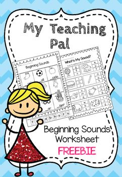 FREEBIE Beginning Sound Worksheet Pack. Targeted for Kindergarten and First Grade students.The pack contains:* 3 x Beginning Sounds Worksheets - Cut and paste the beginning sounds to each picture.* 3 x What's My Sound Worksheets - Shade the beginning sound of each picture.If you liked this product, see the full versions below.Any questions please email myteachingpal@outlook.com