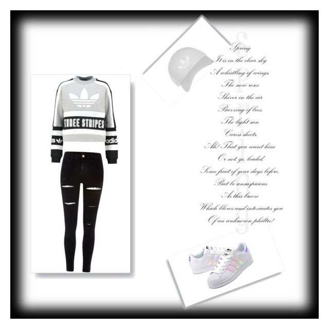 """""""This is my style."""" by vensku on Polyvore featuring adidas Originals, River Island and Topshop"""
