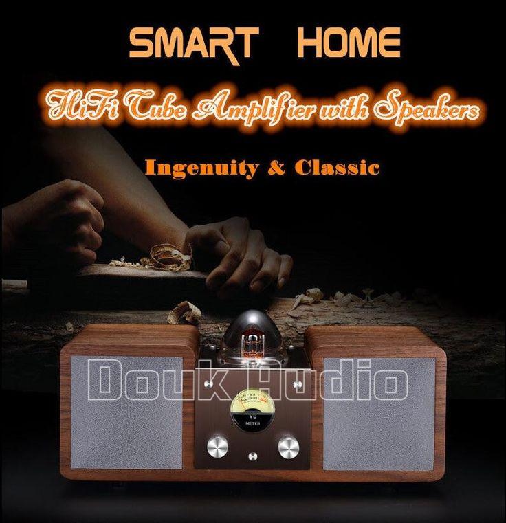 400.20$  Buy now - http://ali76j.worldwells.pw/go.php?t=32739461132 - 2016 New Douk Audio Smart Home Hi-Fi Vacuum Tube Amplifier Stereo Bluetooth Speaker Surround Sound