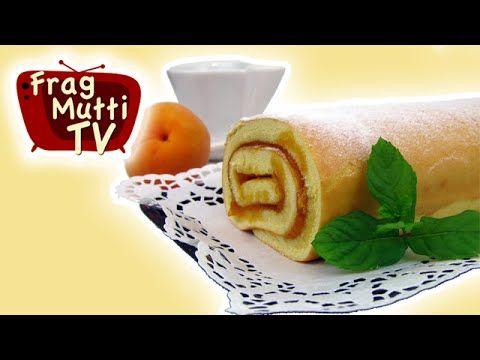 Biskuitrolle mit Marillenmarmelade | Frag Mutti TV - YouTube