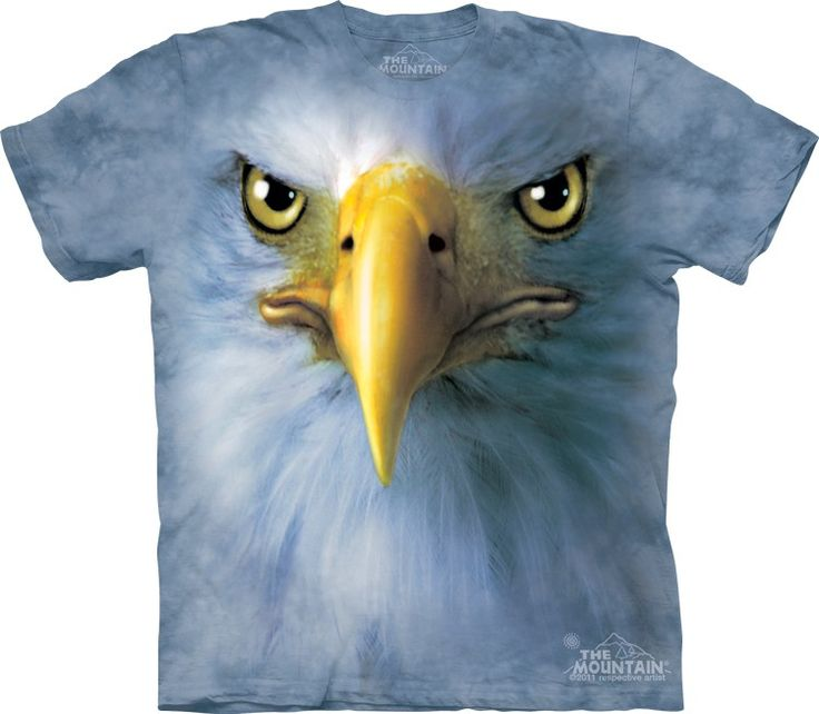 big face eagle t-shirt @ Click image to purchase