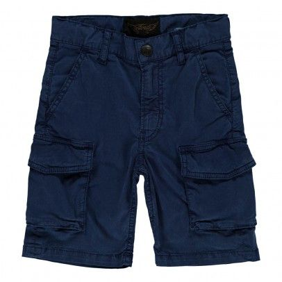 Andrew Cargo Bermuda shorts Electric blue  Finger in the nose