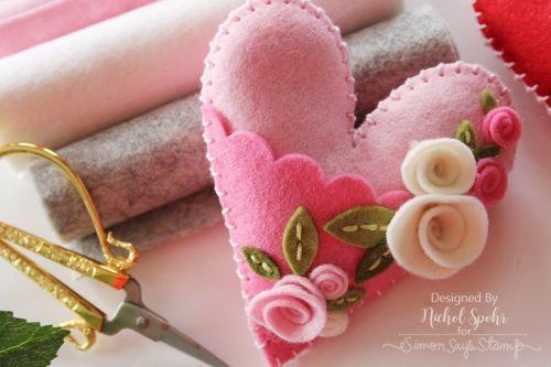 Simon Says Stamp | Felt Plush Heart Valentine's Decor!