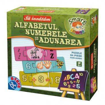 Cea mai potrivită metodă de a învăța de mic alfabetul, numerele și adunarea! Acest joc puzzle ajută copii să-și dezvolte logica prin asamblarea pieselor de puzzle. #boardgame #jocurieducative #jucariionline #educational #puzzle