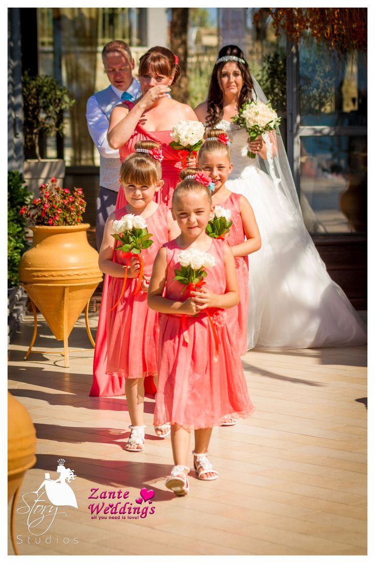 Bridesmaids and flower girls!