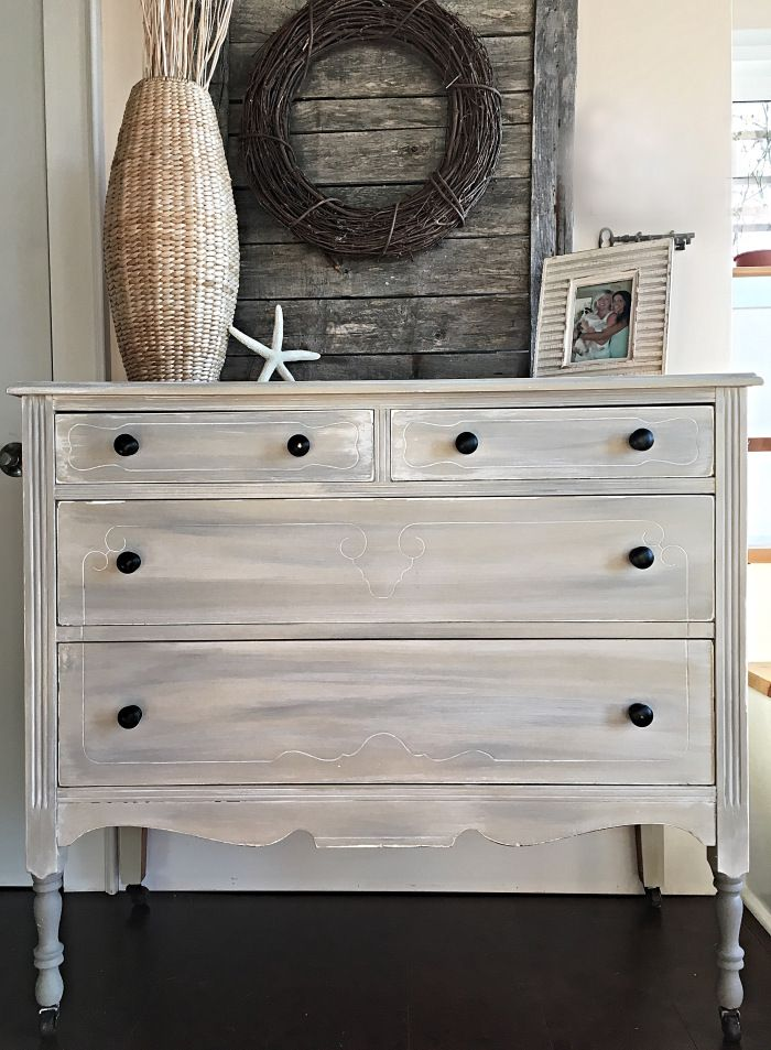 Country Gray Dresser U0026 A New Development To Share❤️