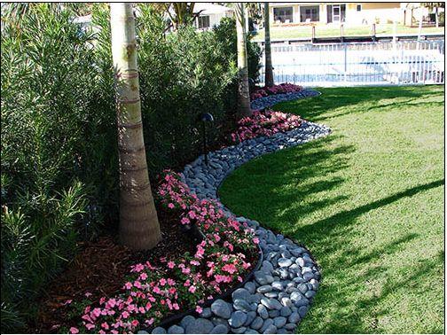 landscaping love the river rocks!