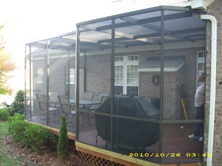 Screen enc lake norman motorized screens retractable for Motorized retractable screens for porches