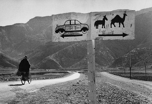 Marc Riboud  Afghanistan, 1955 (This is brilliant, don't drive in the Camel Lane or you might get a ticket!!!)
