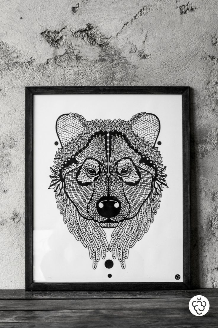 Illustration with Teddy Bear by MalinoweCacko on Etsy
