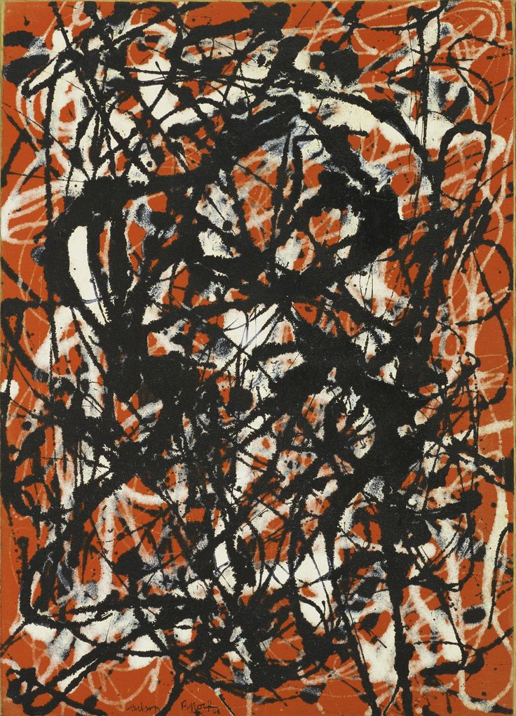 Jackson Pollock, Free Form, 1946. Oil on canvas.