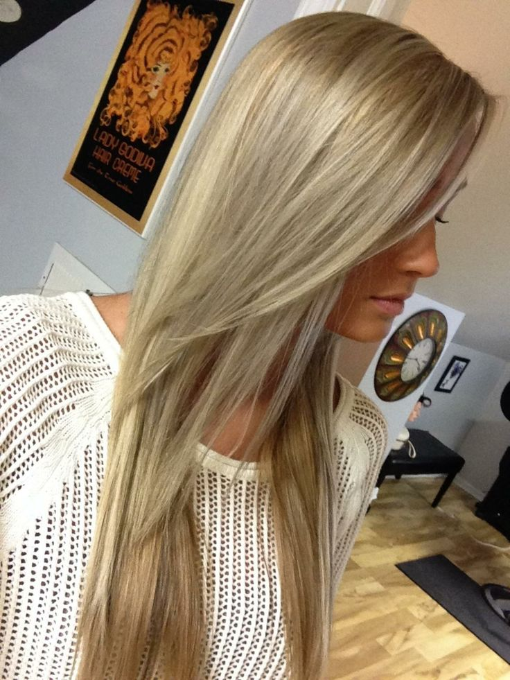 Brown Hair With Blonde Foils 17