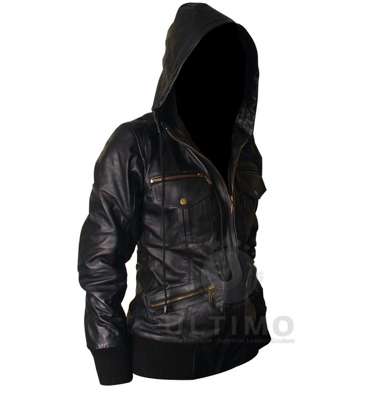 Leather jacket with hood ladies – Novelties of modern fashion ...