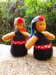 Resultado de imagen para muñecas de fieltro mapuche