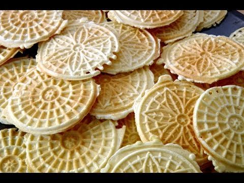 Pizzelles Recipe - Laura in the Kitchen - Internet Cooking Show Starring Laura Vitale
