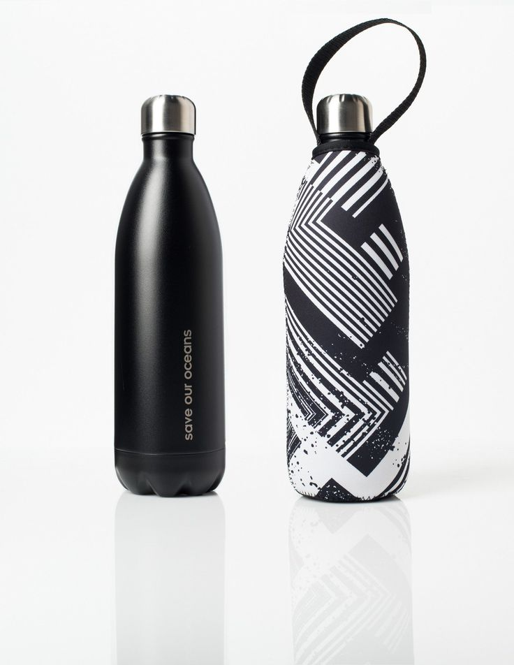 'Future' 34 oz Black Travel Bottle and 'Circuit' Carry Cover by BBBYO