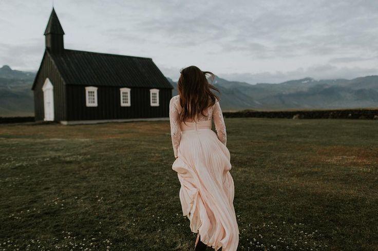 Black Church Iceland Wedding  | Brandon Scott Photography