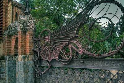 Cancello del Drago - Casa Guell, Gaudì cancello in ferro battuto, Barcellona