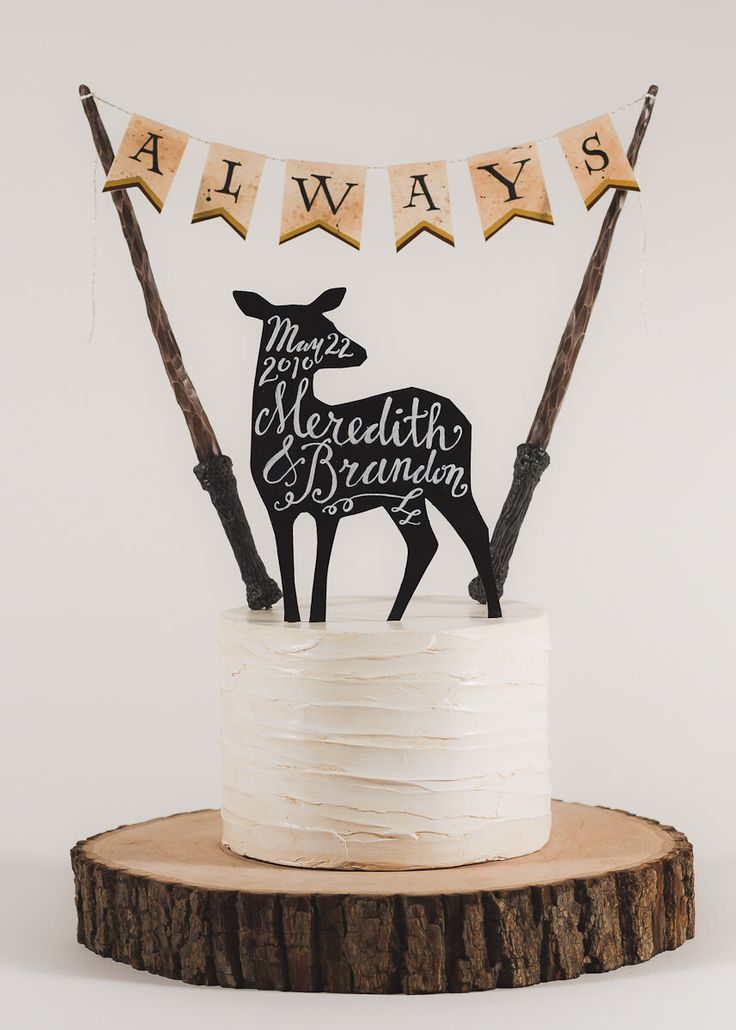 Always - Harry Potter Inspired Wedding Cake Topper by TinyPlaidSheep on Etsy https://www.etsy.com/listing/211410403/always-harry-potter-inspired-wedding
