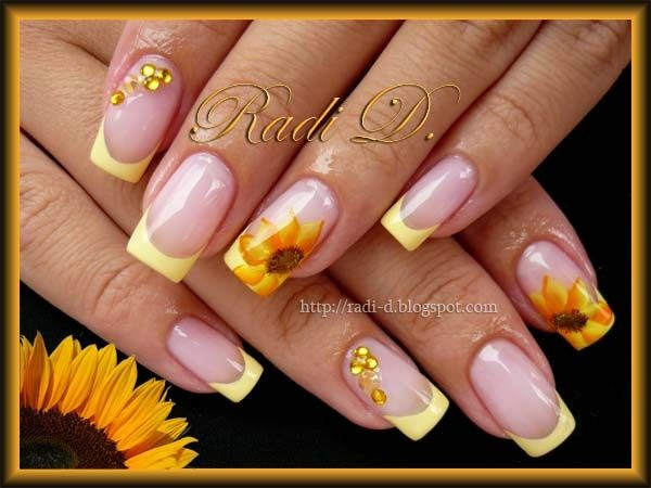 Sunflowers by RadiD - Nail Art Gallery nailartgallery.nailsmag.com by Nails  Magazine www - 25+ Unique Sunflower Nail Art Ideas On Pinterest Sunflower Nails