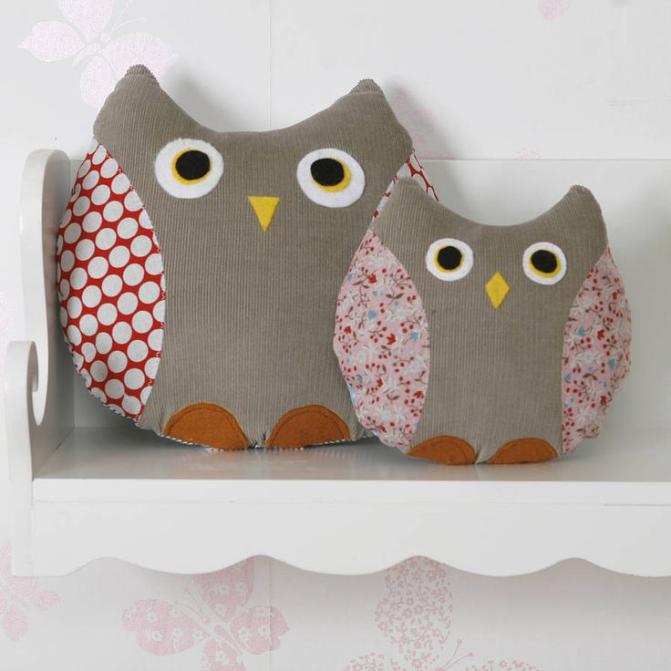 Owl Cushion, Handmade  by red berry apple