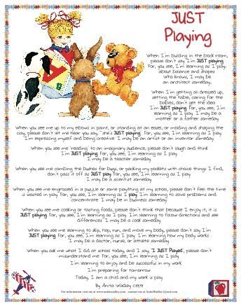 Image result for just playing by anita wadley